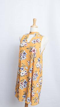Back Tie Choker Dress