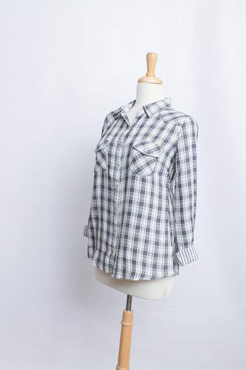 Bleach Wash Plaid