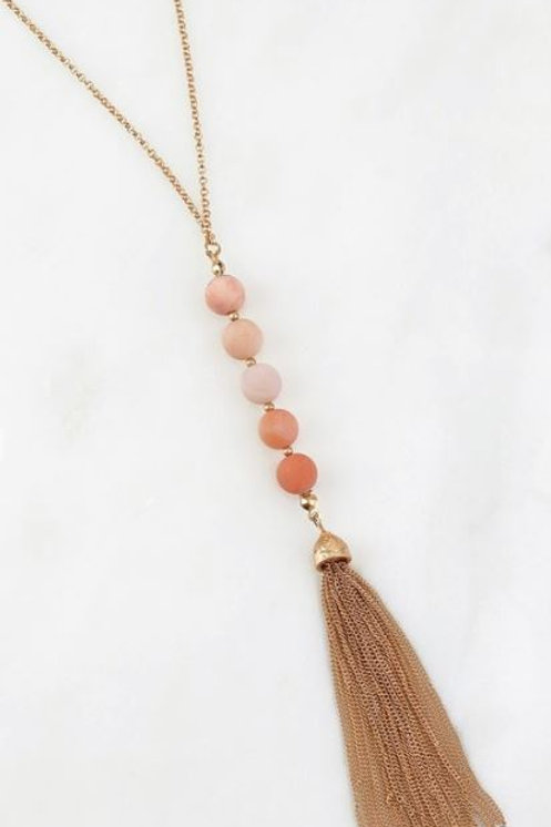 Peach Stone Necklace