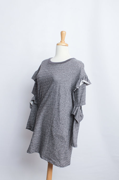 Ruffle Sleeve Sweater Dress