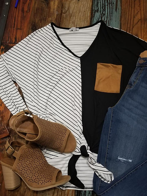 Solid and Striped L/S Tee