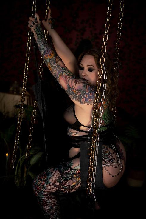 Hampton Roads Boudoir Photographer tatooed woman