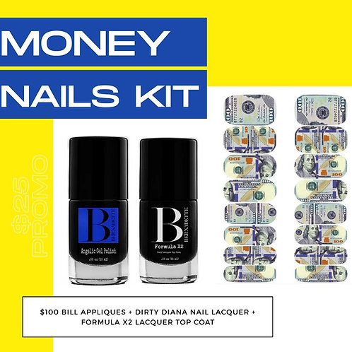 Money nail and lacquer kit