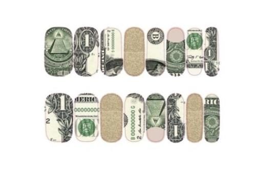 Dollar Bill Money Nail Appliqué