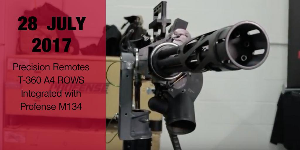 Profense M134 and Precision Remotes ROWS