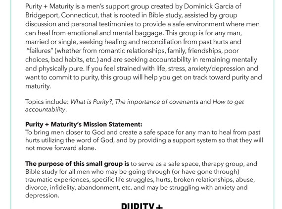 What is Purity + Maturity?