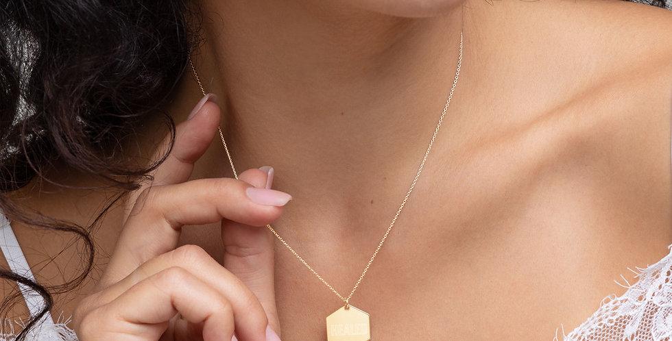 'Healed' Hexagon Necklace