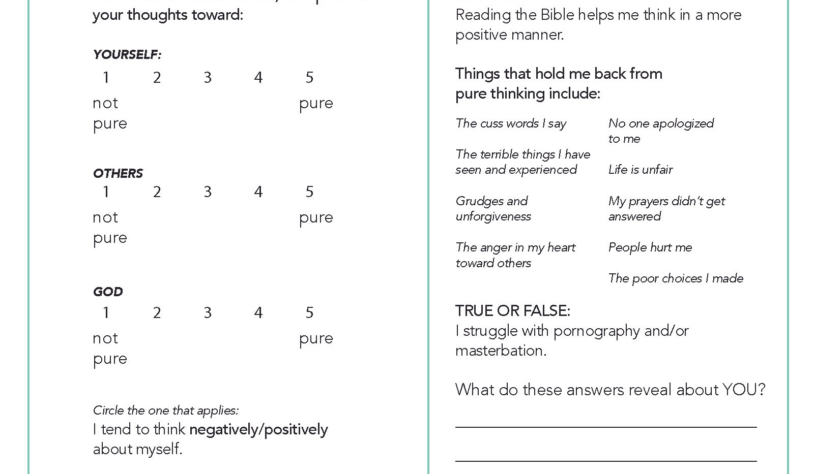 Purity of Mind Survey