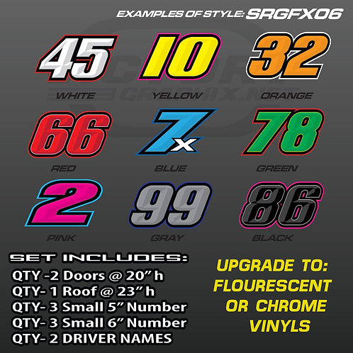 RACING NUMBER SET - STYLE SRGFX06
