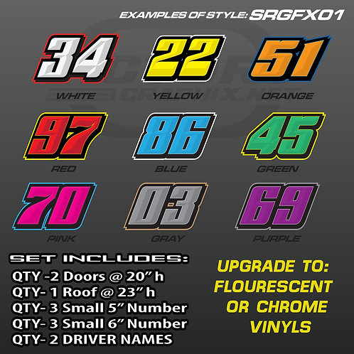 RACING NUMBER SET - STYLE SRGFX01