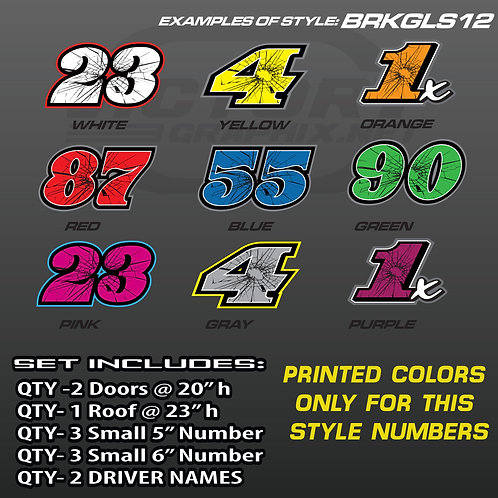 RACING NUMBER SET - STYLE BRKGLS12