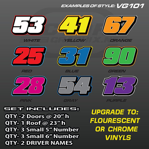 RACING NUMBER SET - STYLE VG101
