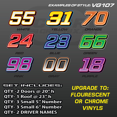 RACING NUMBER SET - STYLE VG107