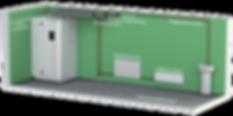 Kuben 550AW - ett komplett ventilation- och värmaggregat.