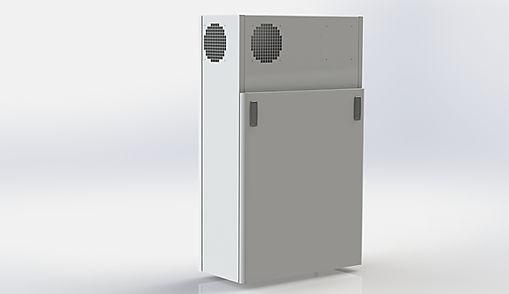 Kuben 35B är ett litet men komplett inneklimatsaggregat som tyst ventilerar mindre lokaler.