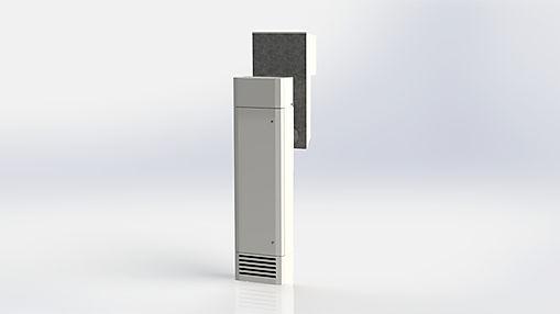 Kuben 50W är ett mycket kompakt aggregat som är avsett att placeras direkt i rummet och det är enkelt att montera.