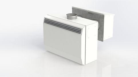 Litet ventilationsaggregat med värmeåtervinning för ventilation