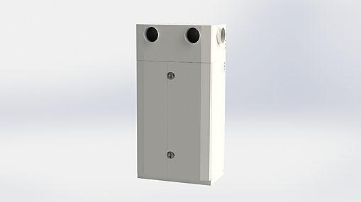 Ett kompakt kanalanslutet aggregat som är gjort för att placeras direkt i vistelsezonen utan något fläktrum.