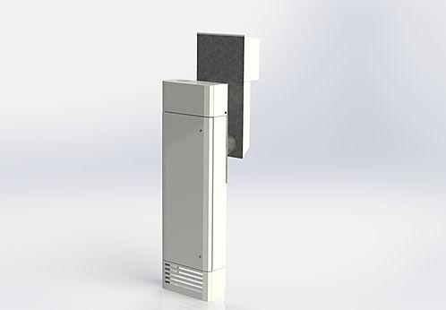 Kuben 100W är ett komplett inneklimataggregat för kontor, konferenslokaler, kontor, skolor mm.