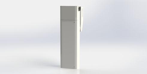 Tyst och slimmat rumsaggregat med unika egenskaper. Ventilerar ett mindre rum.