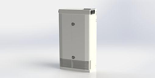 Kuben 1000M2E är avsett att nästan ljudlöst ventilera ett större rum, en skolsal, ett konferensrum eller liknande.