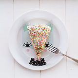 Sprinkle Covered Cake