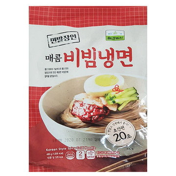 [KF239] 칠갑농산 매콤 비빔냉면 480g