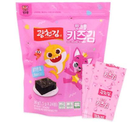 Gwangcheon Seaweed Pink Fong Kids Seaweed 1.5g * 24 packs