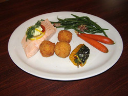 Poached Salmon, Lemon Dill Butter
