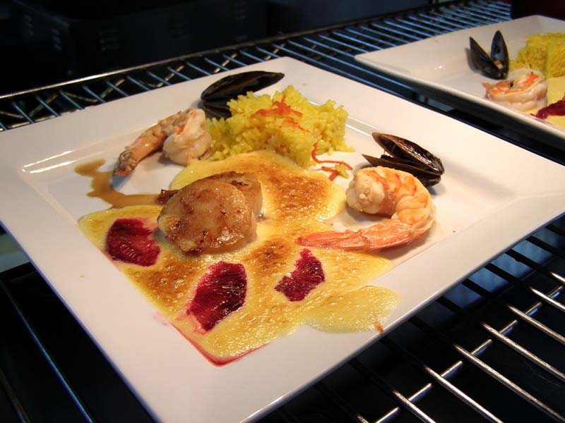 Seafood Trio with Maltaise Sauce