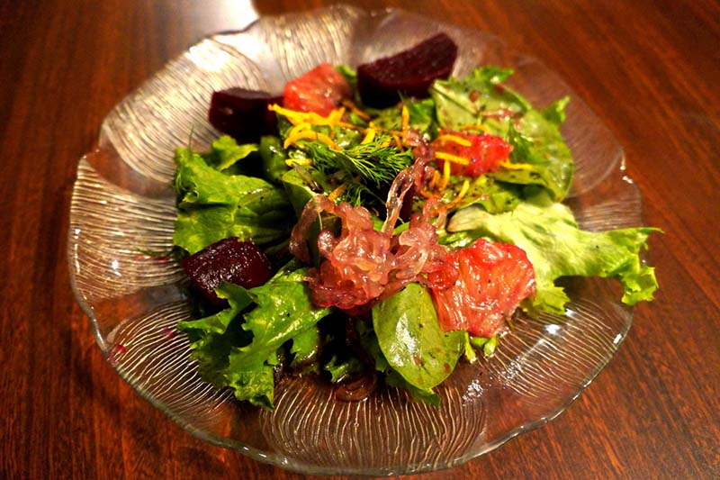 Citrus Beet Mixed Green Salad