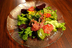 Citrus Beet Mixed Green Salad