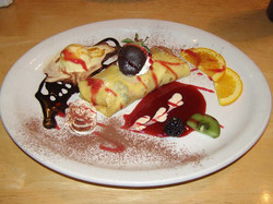 Berry Crepe with Raspberry Coulis