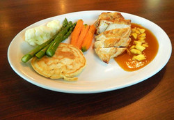 Roast Chicken with Mango Coulis