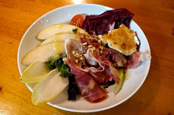 Prosciutto, Baked Goat Cheese Salad