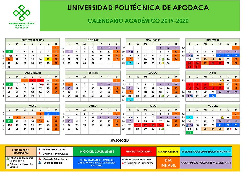 Calendario Académico 2019-2020