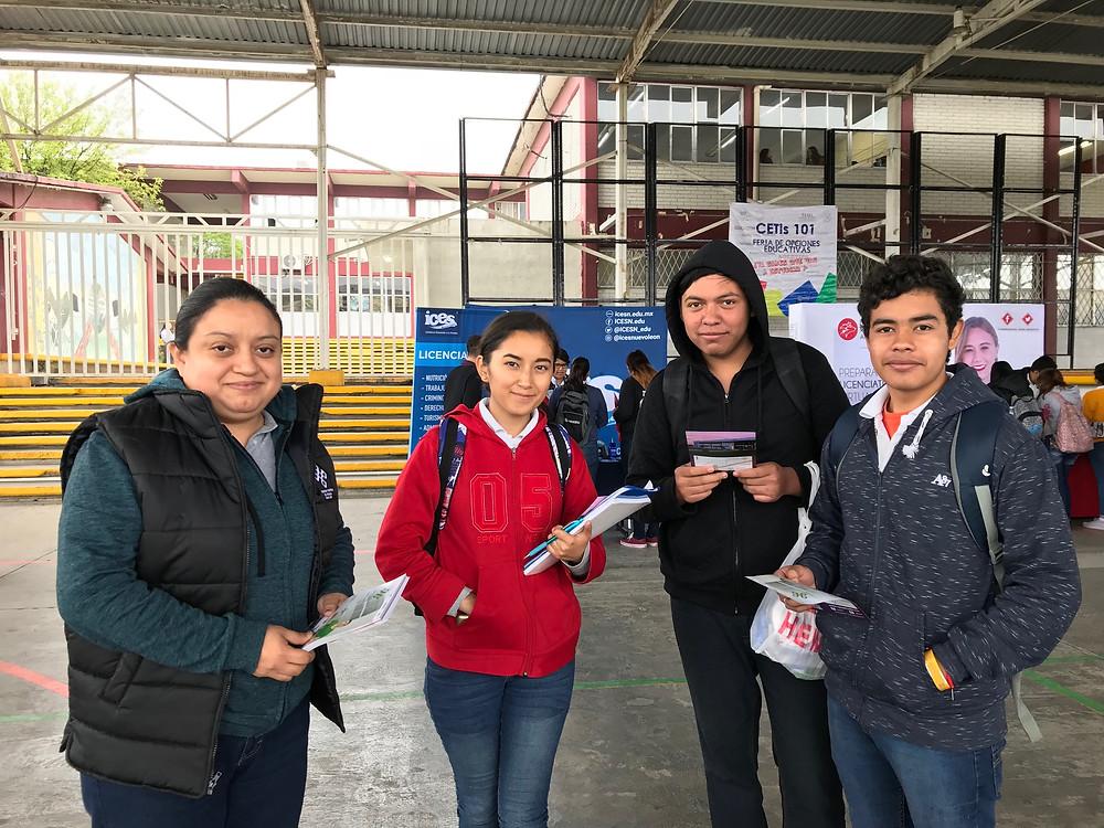 La UPAP con estudiantes del CETis