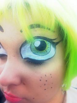 Maquillage FacePainting Trompe l'oeil