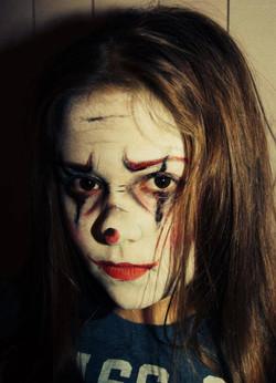 Maquillage clown maléfique