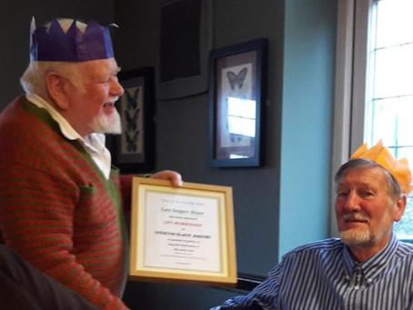 Christmas meal award.
