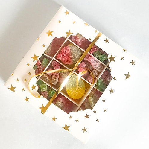 Square Gold Star Gift Box