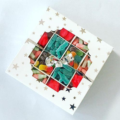 Square Silver Star Gift Box
