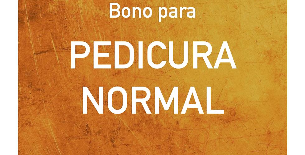 Bono para PEDICURA NORMAL