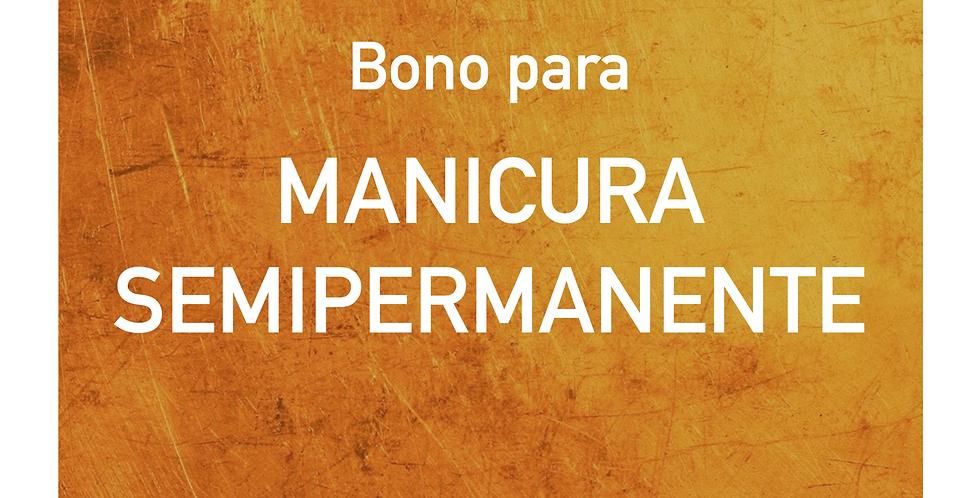 Bono para MANICURA SEMIPERMANENTE