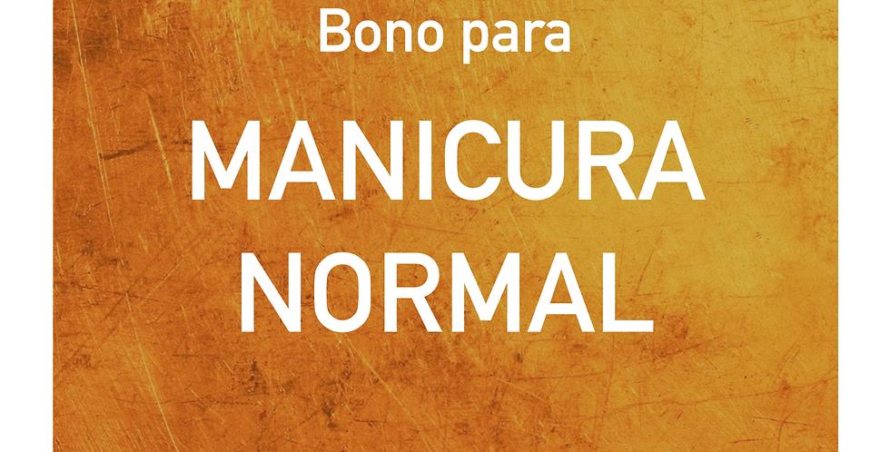 Bono para MANICURA NORMAL
