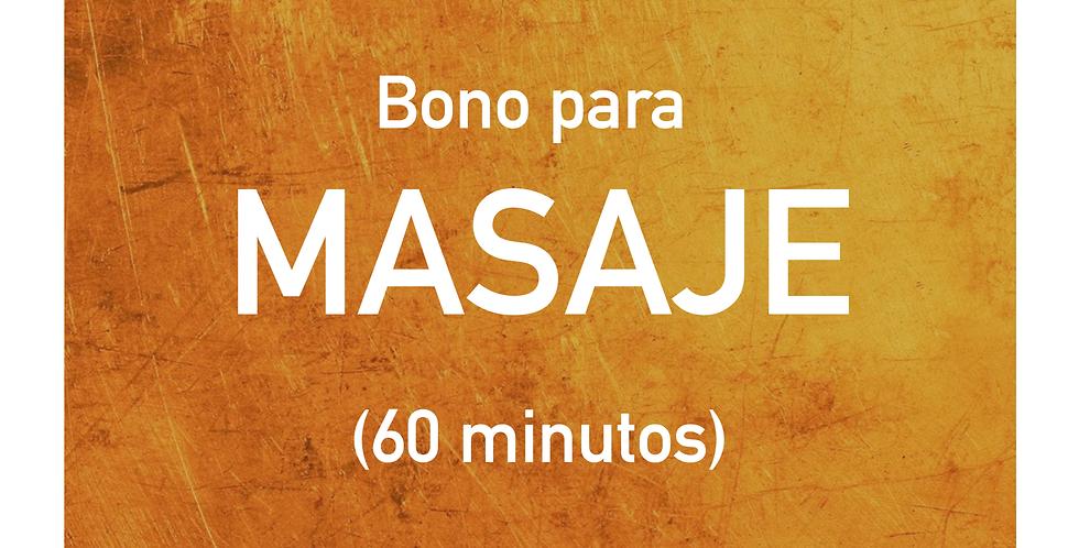Bono para MASAJE