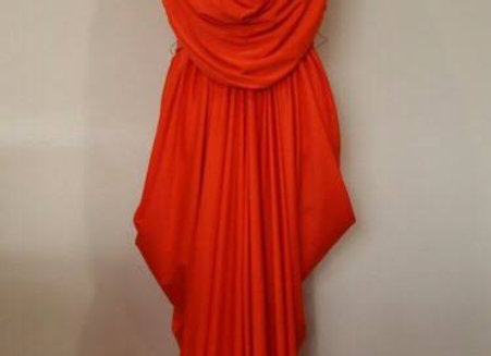 Pre-loved Grecian Maxi Dress Orange Size 12