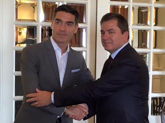 Presidente da ANIVEC/APIV recebido pelo Cônsul-Geral de Portugal em Macau e Hong Kong, Vítor Sereno