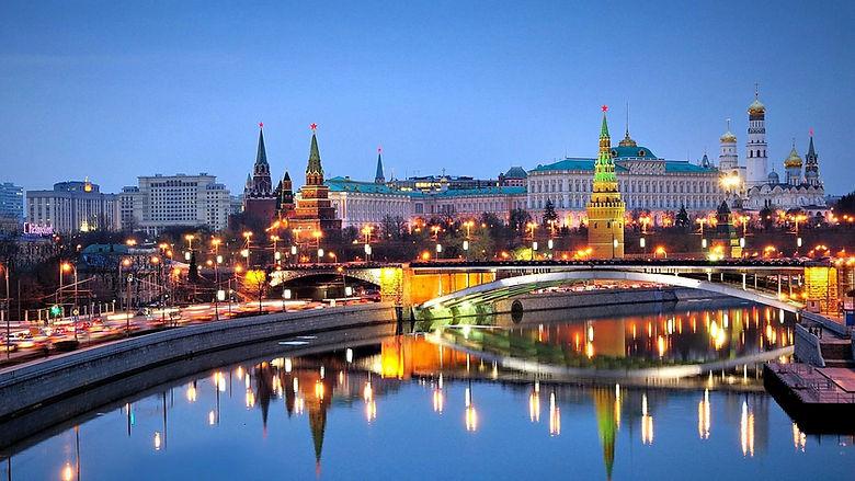Вечерняя Москва, Кремль в ночных огнях