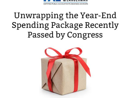 What You Need to Know About the Consolidated Appropriation Act, 2020
